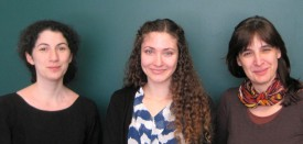 L-R: Nina Fefferman, Andrea Egizi and Dina Fonseca.