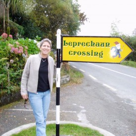 An avid traveler, Kate gets directions in Ireland.