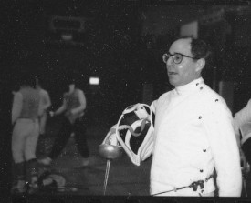 At fencing practice in 1991.