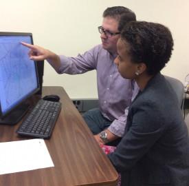 David Tulloch and Alejandrina Canelo Villafana, Ph.D. candidate at Columbia University.