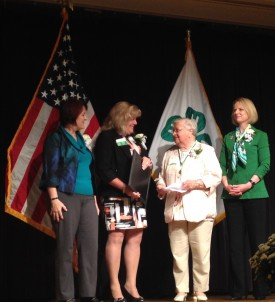 Left to right, Lisa Lauxman, director, Division of Youth and 4-H, Institute of Youth, Family and Community, NIFA, USDA; Kimberly Gressley, president, National Association of Extension 4-H Agents; Dorothy Calimer, Rutgers 4-H volunteer; and Jennifer Sirangelo, president and chief executive officer, National 4-H Council.