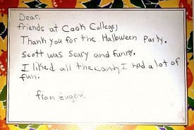 A thank-you note from an appreciative local child is what makes it all worth it.