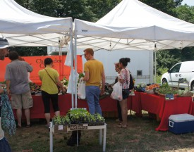 Chickadee Creek Farm is a vendor at the weekly Rutgers Gardens Farm Market.