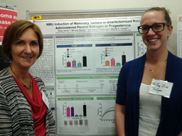 Wendie Cohick (l) and Hillary Stires participated in the afternoon poster session.