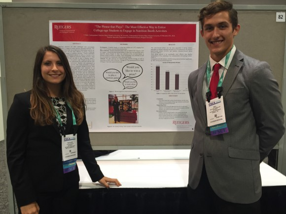 Taylor Palm and Bill Cornelius at the 2015 Food and Nutrition Conference and Expo.