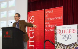 Journalist and SEBS Executive Dean's 250th Anniversary speaker Andrew Revkin picks up on Executive Dean Goodman's question: will Rutgers be here in 250 years?