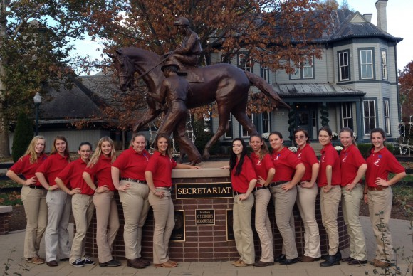 Members of the New Jersey Eastern National 4-H Horse Round-Up team pictured at Churchill Downs in Louisville, KY.