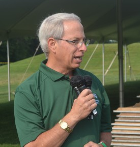 Bruce Clarke at annual Rutgers Turf Field Day event.