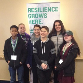 New Jersey 4-H delegates at the national Agr-Science Summit in MD. Front row, L-R: Isa Perkins, Newark; Trevor Hettrick, Montclair; and Rebecca Byrne, West Milford. Back row, L-R: Brittany Smith, Oxford; Susan Asali and Victoria Bruno, Belleville. Photo credit: Jeanette Rea-Keywood.