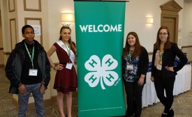 4-H Healthy Living Summit delegation included Michael Newton, Jr. (Burlington Co.), Victoria Matt (Cape May Co.), Amanda Erbe (Ocean Co.) and McKayla Tyrrell (Monmouth Co.).