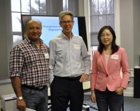 L-R: Rutgers colleagues Debashish Bhattacharya, Brad Hillman and Ning Zhang.