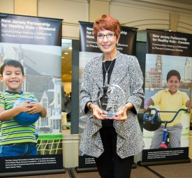 FCHS Chair Kathleen Morgan accepted the Culture of Health Award on behalf of the department. Photo: Jeff Heckman.