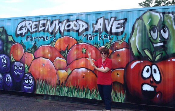 FCHS Educator Michelle Brill at Greenwood Farmer Market in Trenton, NJ.