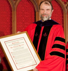 Joachim Messing at his investiture as Chair of Molecular Genetics at Rutgers.