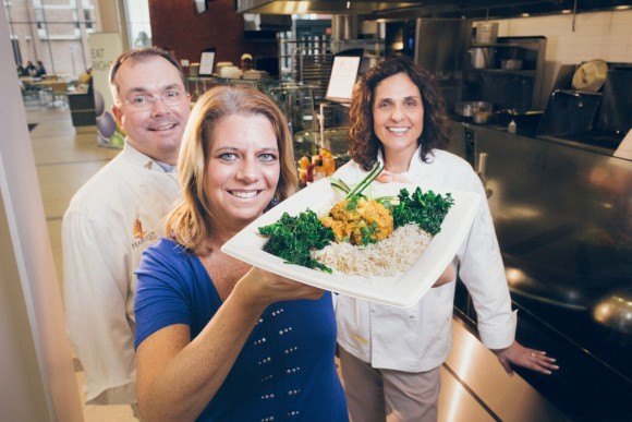 The healthy dining team behind Harvest. L-R: Ian Keith, Peggy Policastro and Rachel Reuben