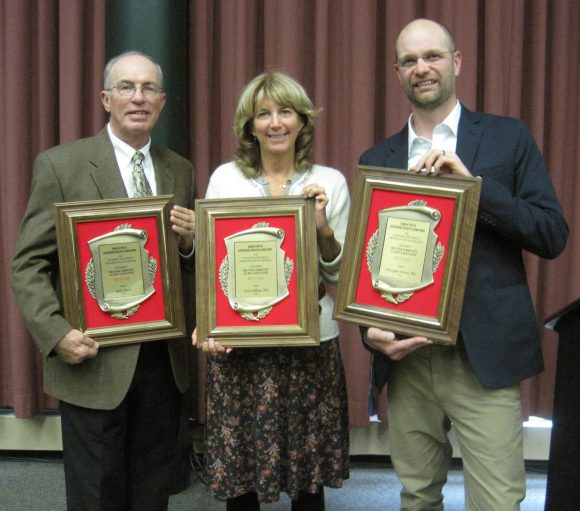 L-R: Robert Bruch, Terrie Williams and Chris Martine, winners of the 2016 Dennis M. Fenton Distinguished Graduate Alumni award.