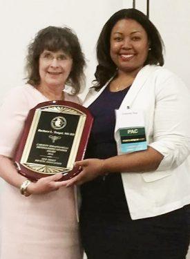 Barbara Tangel with NJDA President Chesney Blue.