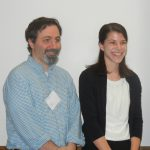 Dr. Nicholas Bello, assoc. professor and Hayley Cohen.