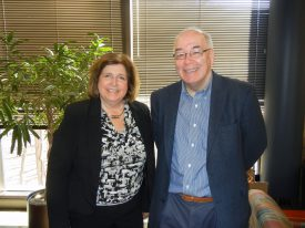 Janice Geiger, Administrative Assistant General Honors Program with Dr. Malcolm Watford, director George H. Cook Scholars Program, Department of Nutritional Sciences.
