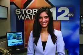 Alyssa Caroprese (SEBS'12) got her start at ABC-affiliate KDRV-TV in Medford, Oregon. Photo courtesy of Alyssa Caroprese.
