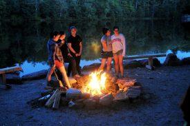 Fun around the campfire.