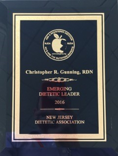 NJDA 2016 Emerging Dietetic Leader for the State of New Jersey Award.