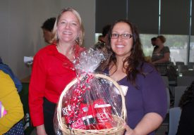Pamela Callendar & RFCU raffle winner, Emily Pereira RU-SAS.