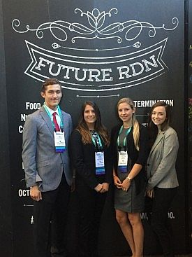 Student IFNH Ambassadors: Bill Cornelius, Taylor Palm, Cortney Flynn and Rebecca Tonnessen.