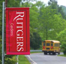 Signage at the entrance to the Rutgers Gardens.
