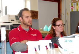 Ph.D. candidate Dylan Klein and MSB grad student Kate Goodman.