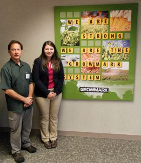 Catherine Cincotta with her internship advisor Jack Rabin, associate director of Farm Programs, NJAES, at Growmark headquarters in Bloomington, IL.