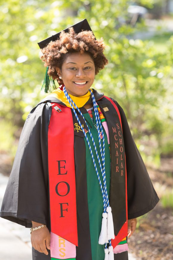 Jessie Davis (SEBS'16) during Convocation. Photo credit: John O'Boyle