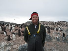Oscar Schofield, professor of marine science and co-founder of the Rutgers University Center for Ocean-Observing Leadership, during a research trip to Antarctica. Photo: Rutgers University.
