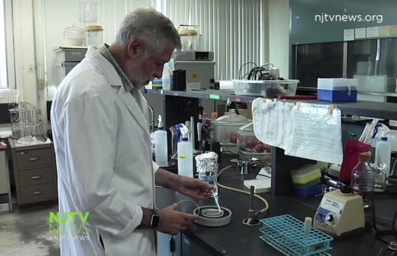 Distinguished professor and extension specialist Donald W. Schaffner in his lab.
