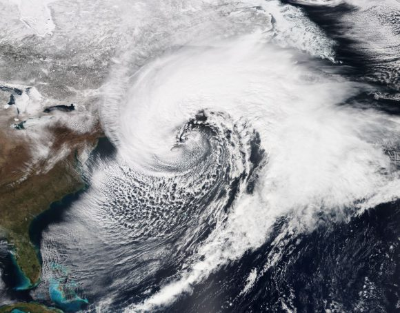 An enormous nor'easter on March 26, 2014. Photo: National Oceanic and Atmospheric Administration.