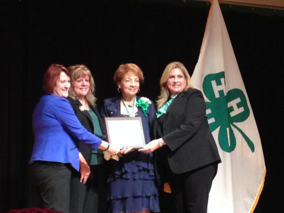 Left to right - Lisa Lauxman, director, Division of Youth and 4-H, Institute of Youth, Family and Community, NIFA, USDA; Kimberly Gressley, past president, National Association of Extension 4-H Agents, Stella; Carolyn Fernandez, director, National 4-H Council.