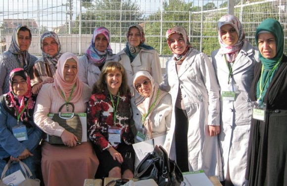 Robin Brumfield with Suzanne Project students in Turkey. Photo: Gamze Onur from Akdeniz University in Antalya, Turkey.