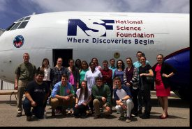 Alyssa Stansfield with fellow NCAR students. (note: do not use in print)