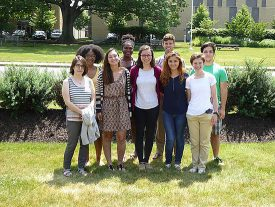 Alyssa Stansfield with fellow summer interns. (note: do not use in print).