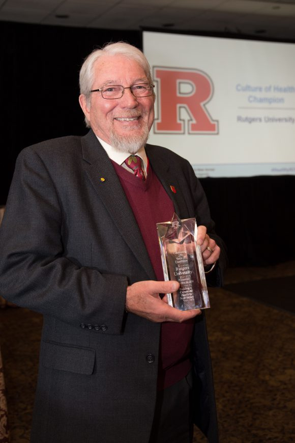 Bob Goodman with Culture of Health Champion Award.