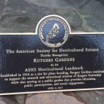 Rutgers Gardens Receives Prestigious National Horticultural Landmark Award