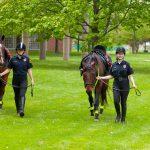 Final Dismount for Graduating Mounted Patrol Officer Jaclyn Bird (SEBS '18)