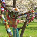 Crocheters Speak for the Trees – Rutgers Gardens Gets Yarn-Bombed