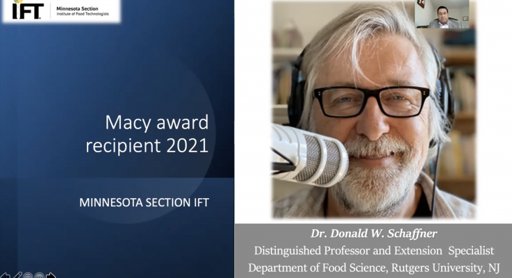 Donald Schaffner Honored with the 2021 Harold Macy Food Science and Technology Award